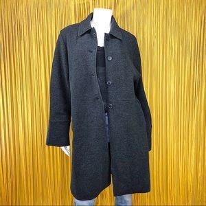 HERMAN GEIST Charcoal Gray Wool Coat M
